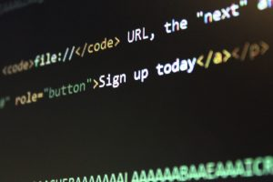 image of blurred code