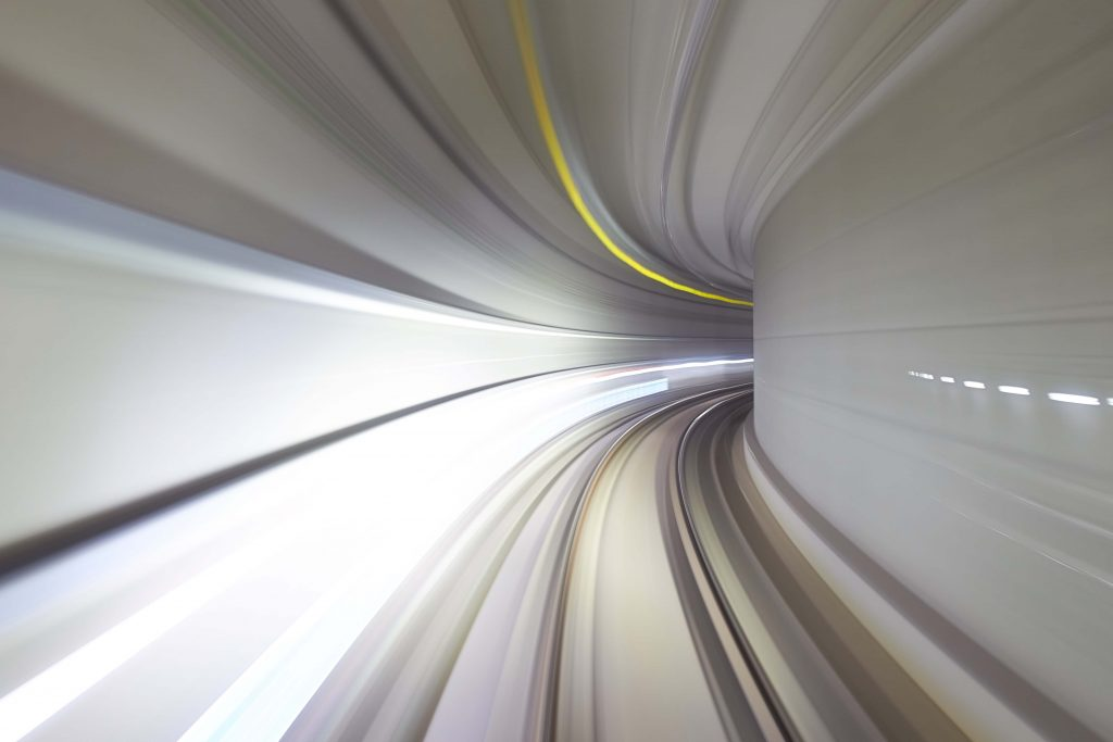 blurred tunnel
