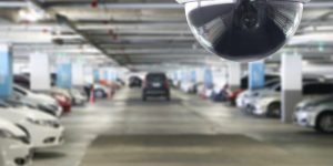 Installation Service CCTV Surveillance Security Camera in Parking Garage
